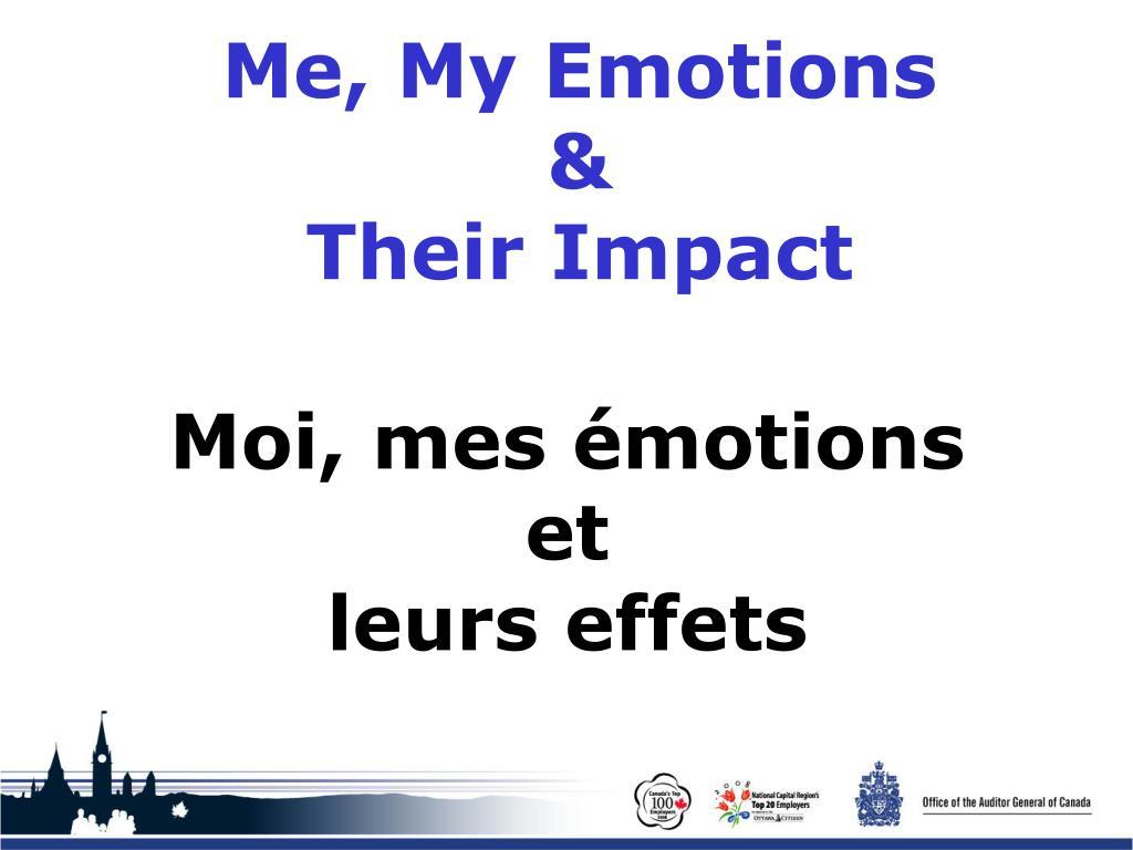 Me, My Emotions