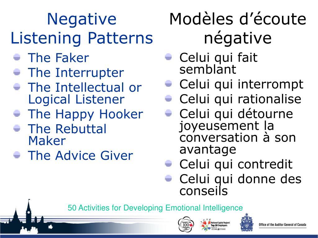 Negative Listening Patterns