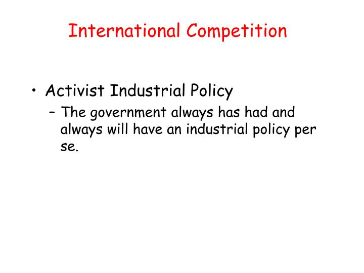 International Competition