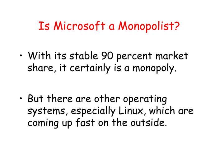 Is Microsoft a Monopolist?