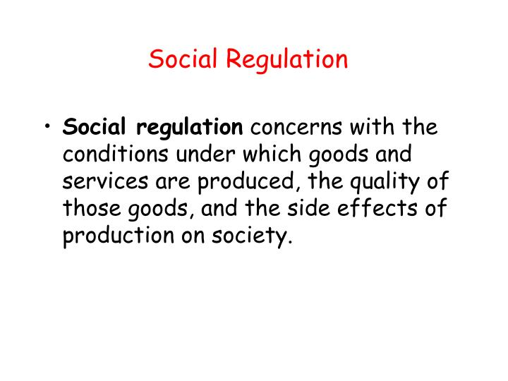 Social Regulation