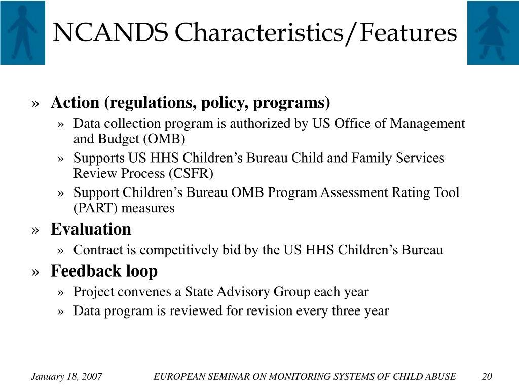 NCANDS Characteristics/Features