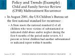 policy and trends example child and family service review cfsr maltreatment recurrence