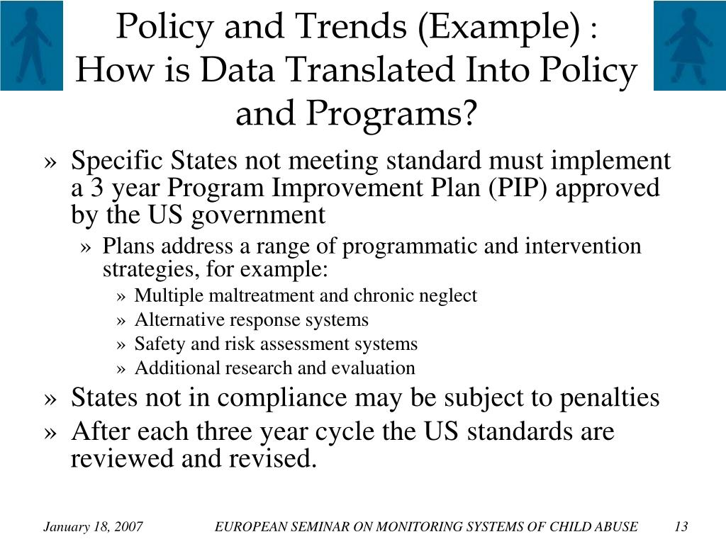 Policy and Trends (Example)