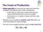 the costs of production11
