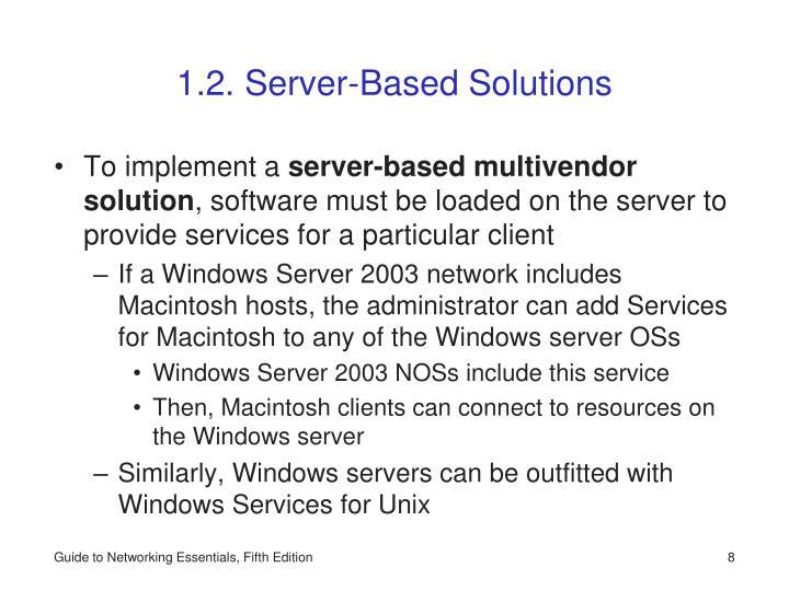 1.2. Server-Based Solutions