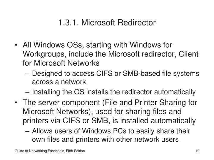 1.3.1. Microsoft Redirector