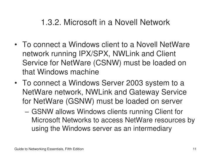 1.3.2. Microsoft in a Novell Network