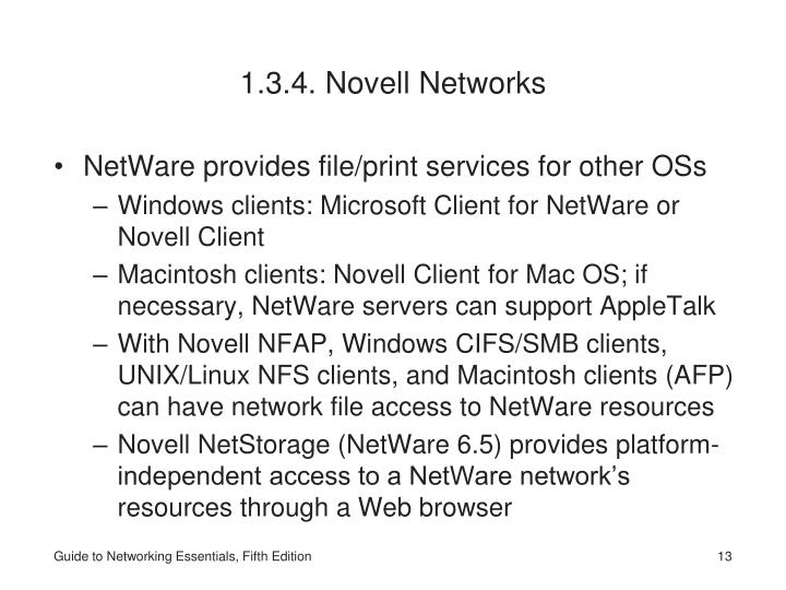 1.3.4. Novell Networks