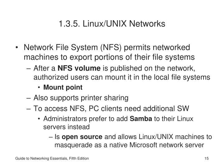 1.3.5. Linux/UNIX Networks