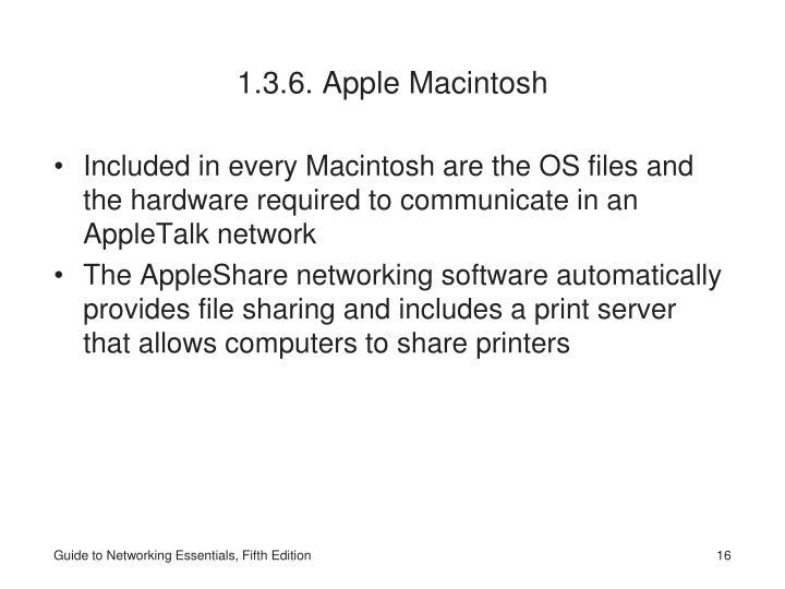 1.3.6. Apple Macintosh