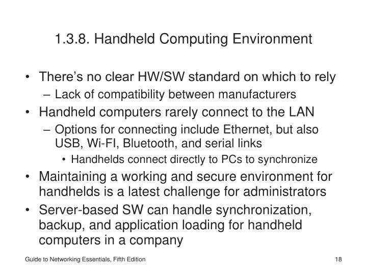 1.3.8. Handheld Computing Environment