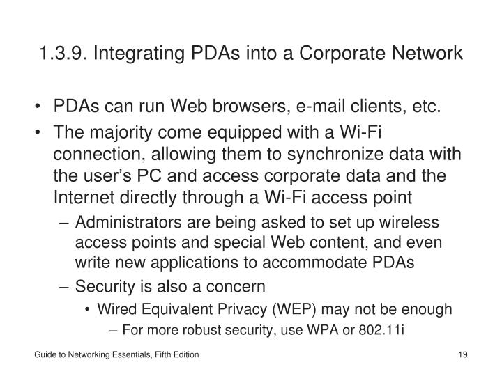 1.3.9. Integrating PDAs into a Corporate Network