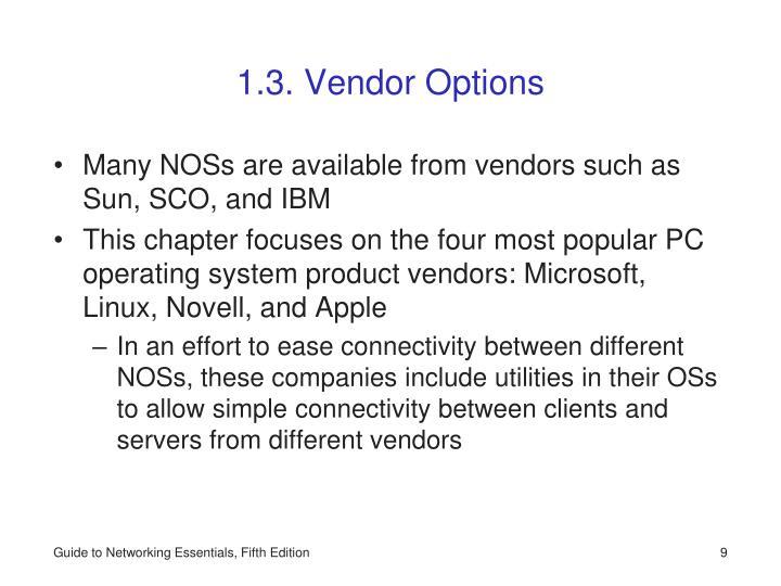 1.3. Vendor Options