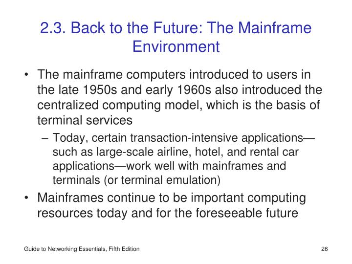 2.3. Back to the Future: The Mainframe Environment