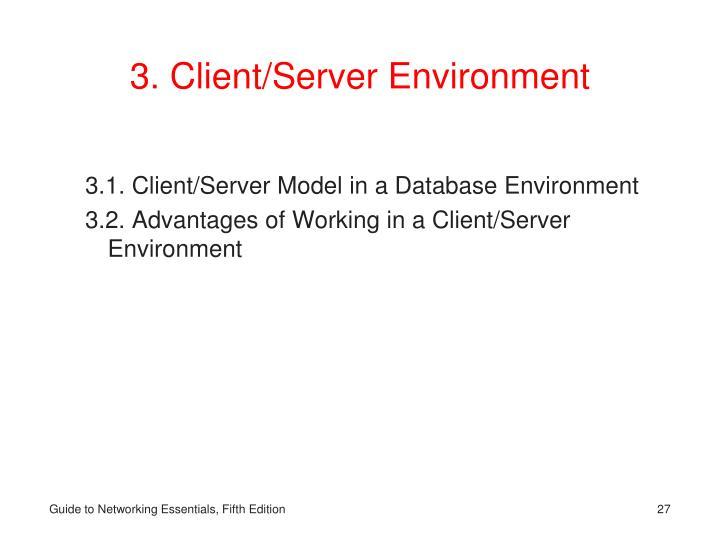 3. Client/Server Environment