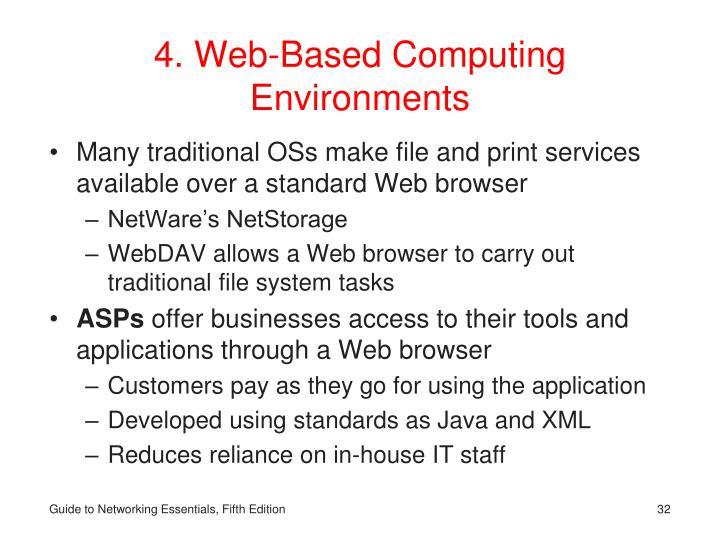4. Web-Based Computing Environments
