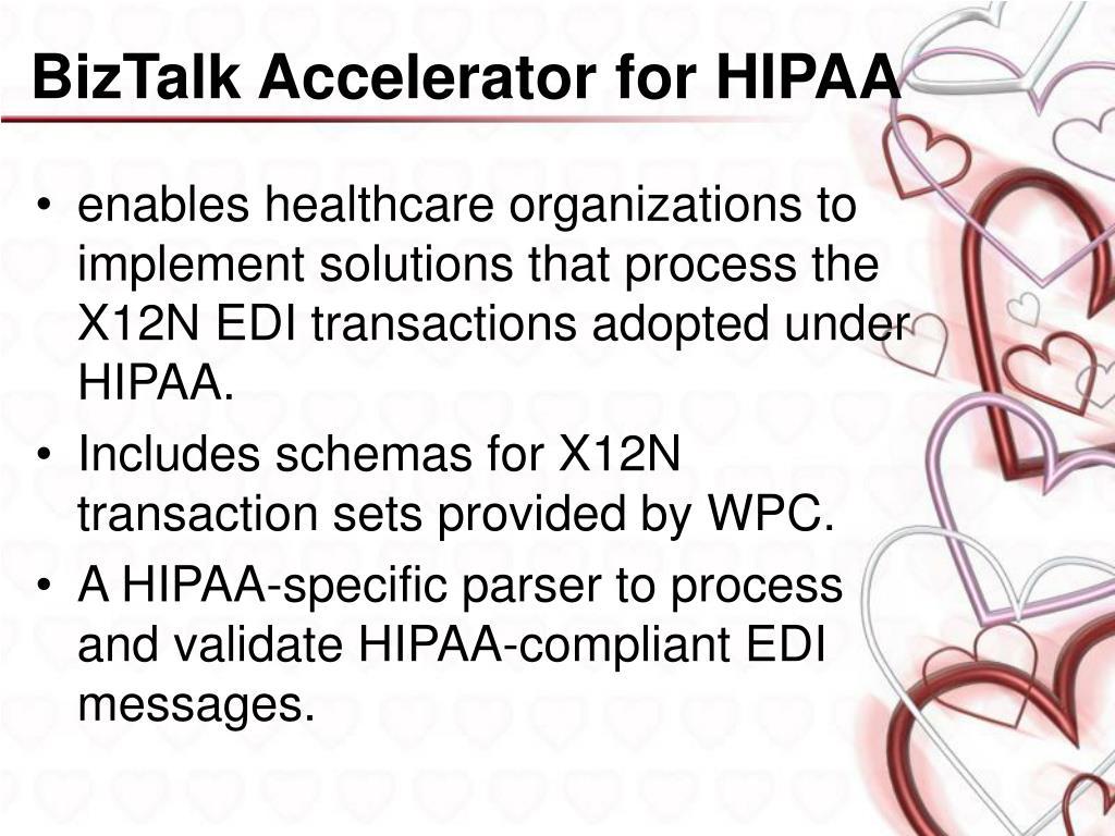 BizTalk Accelerator for HIPAA