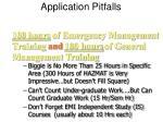 application pitfalls28