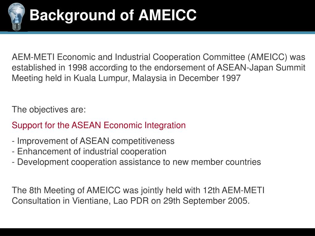 Background of AMEICC