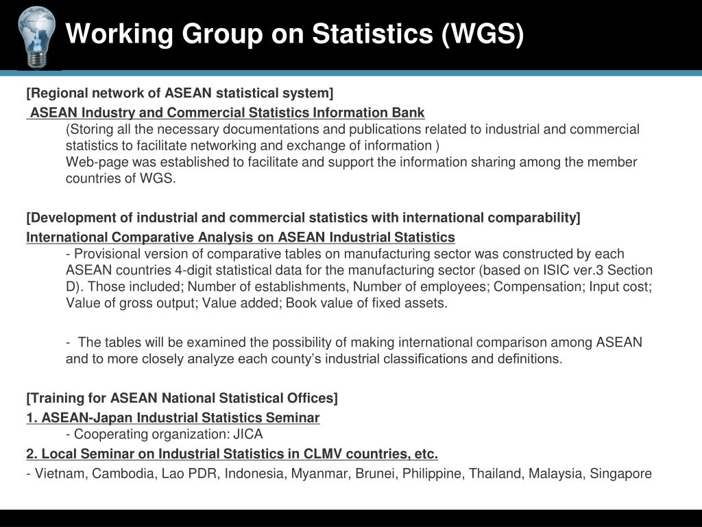 [Regional network of ASEAN statistical system]
