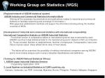 working group on statistics wgs
