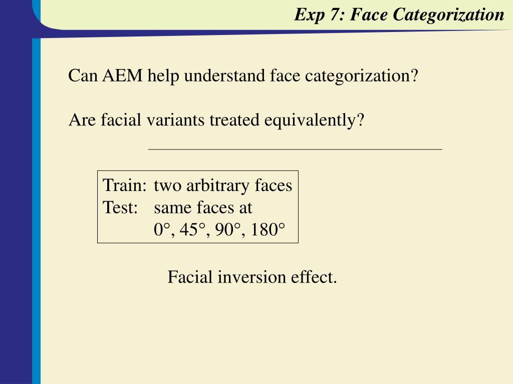 Exp 7: Face Categorization