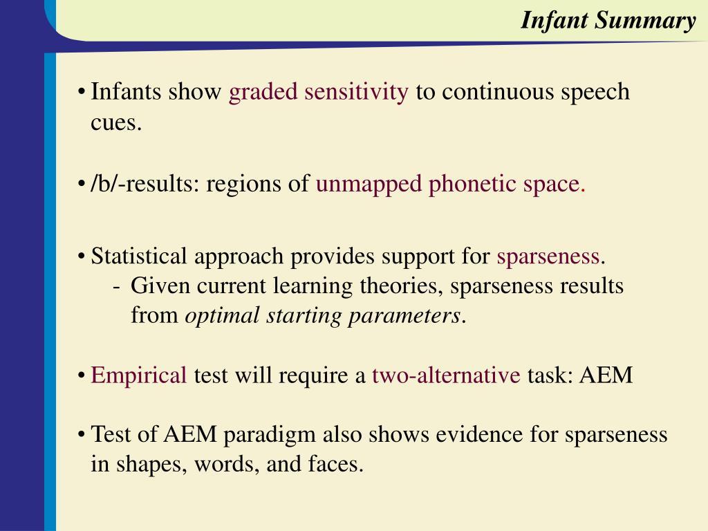 Infant Summary