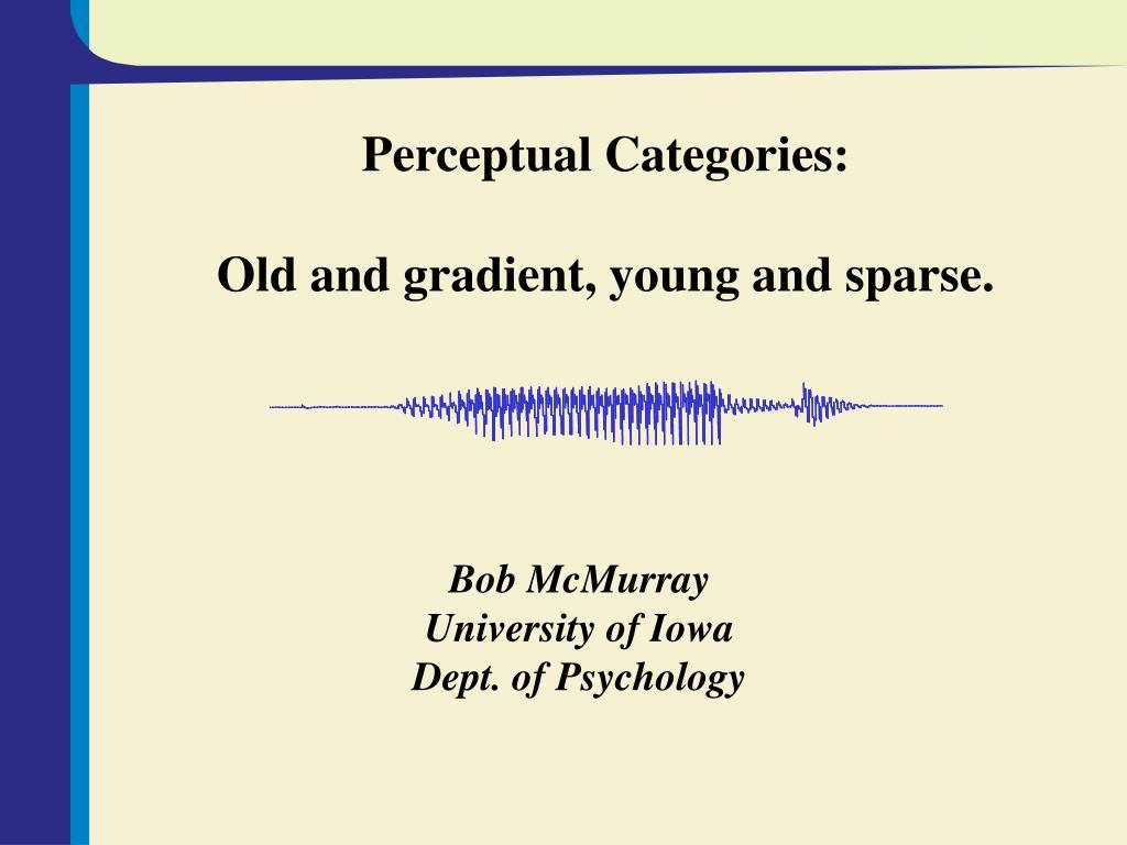 Perceptual Categories: