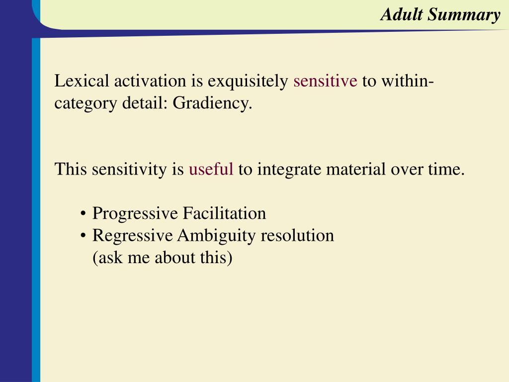 Adult Summary
