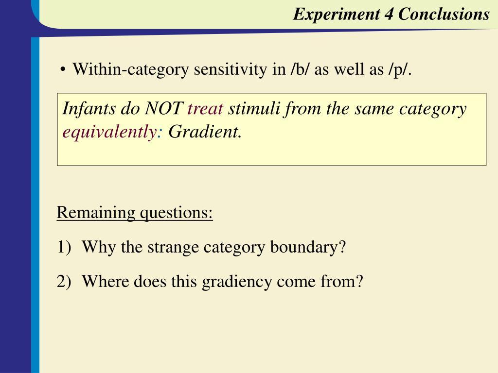 Experiment 4 Conclusions