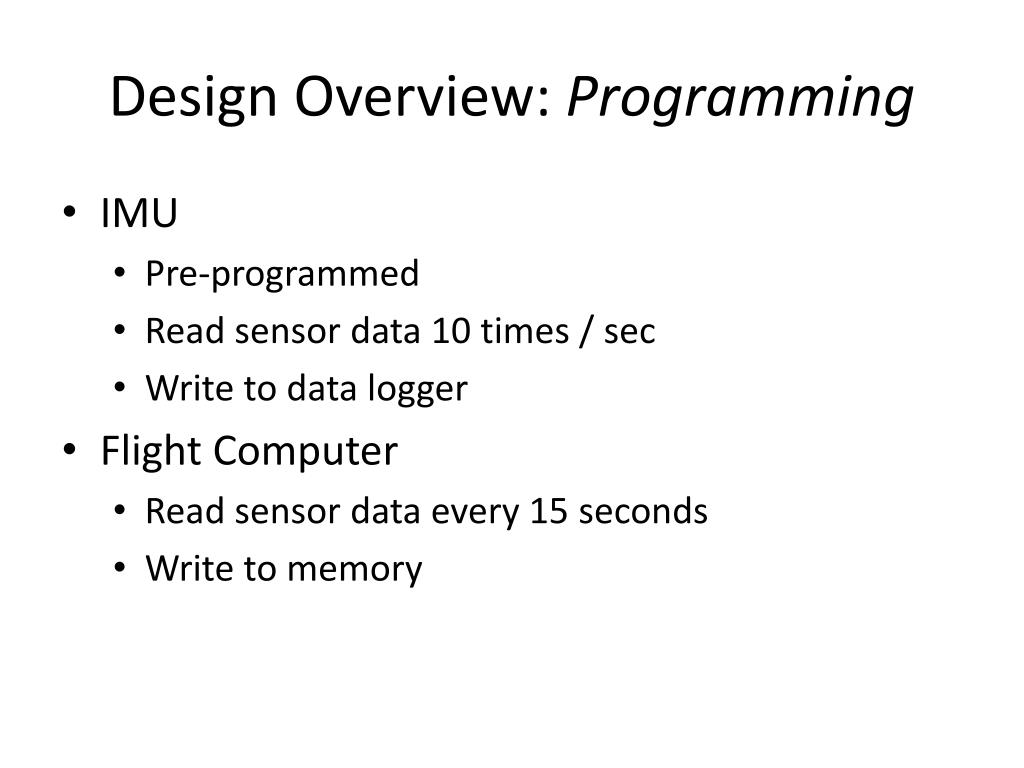 Design Overview: