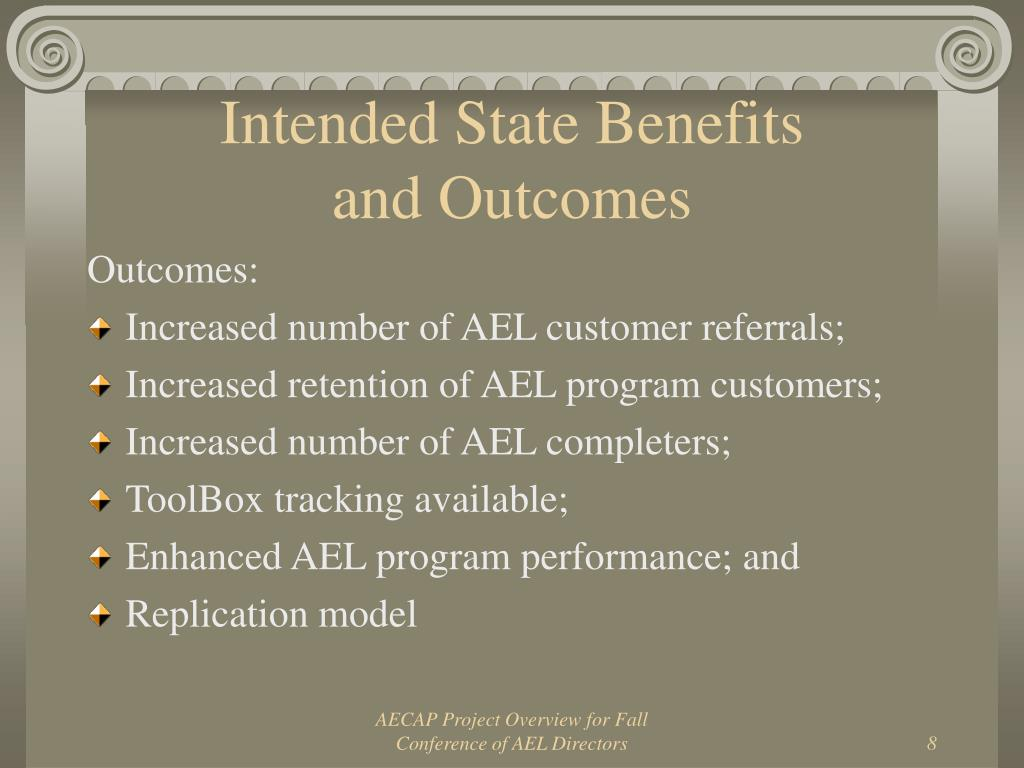 Intended State Benefits