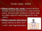 onde radio effetti