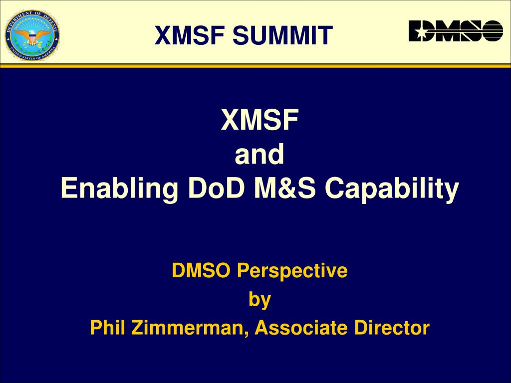 xmsf and enabling dod m s capability