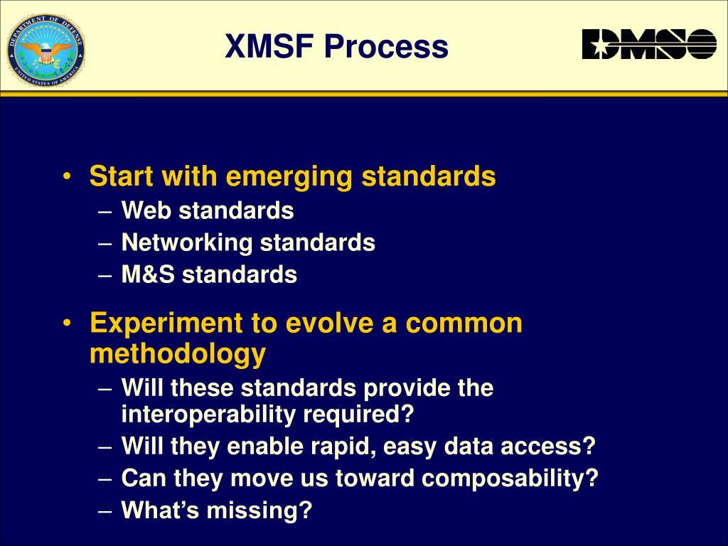 XMSF Process
