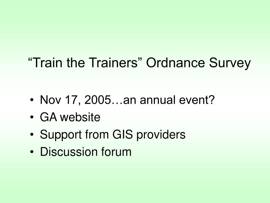 """Train the Trainers"" Ordnance Survey"