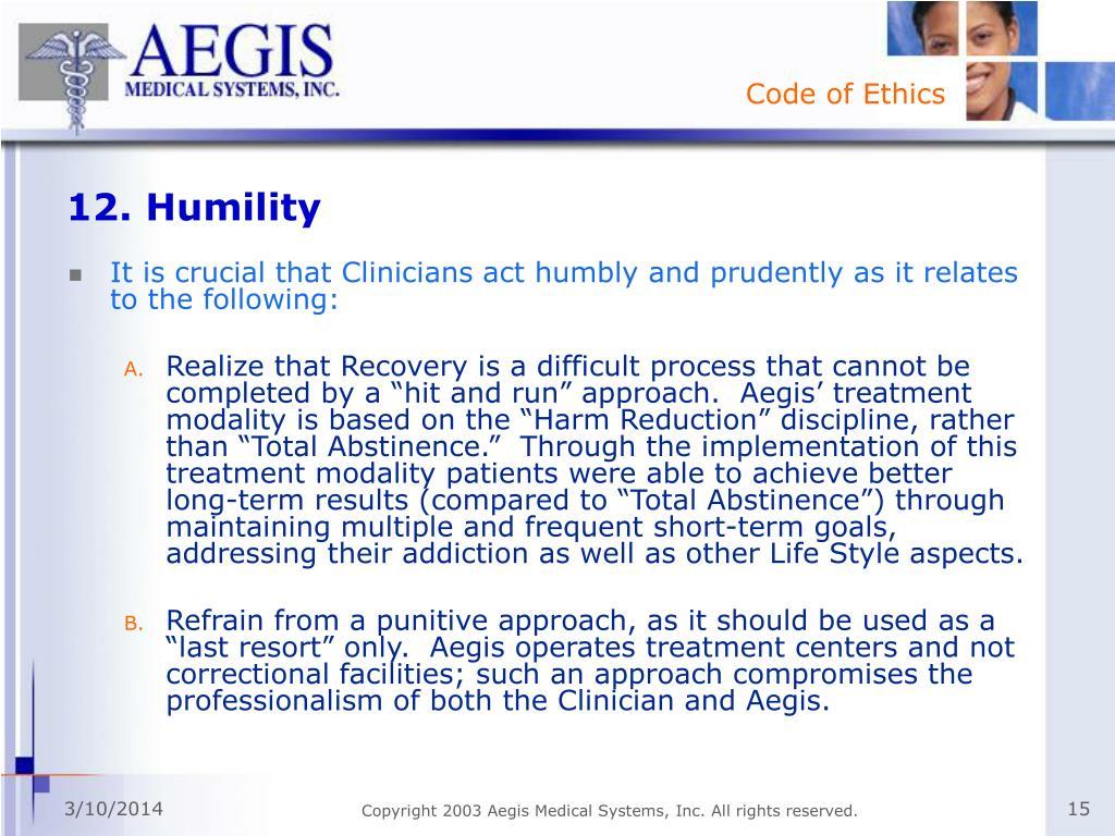 12. Humility