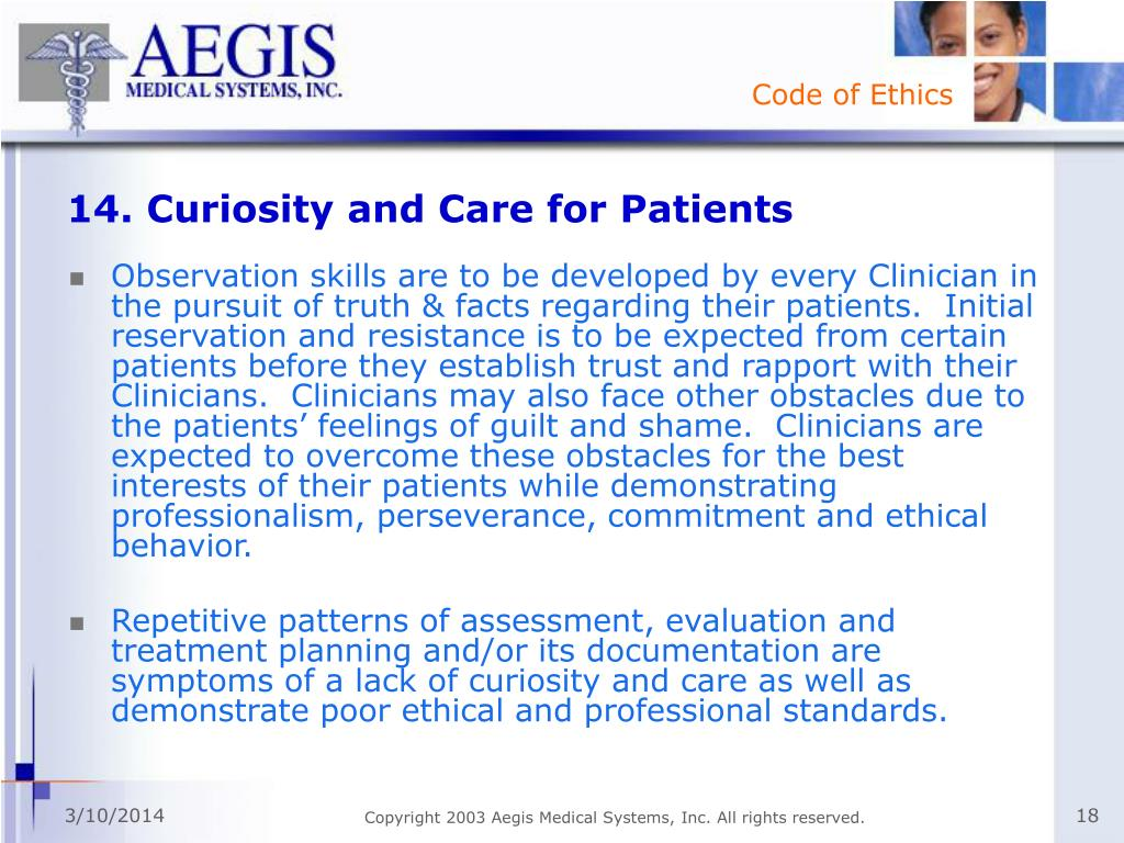 14. Curiosity and Care for Patients
