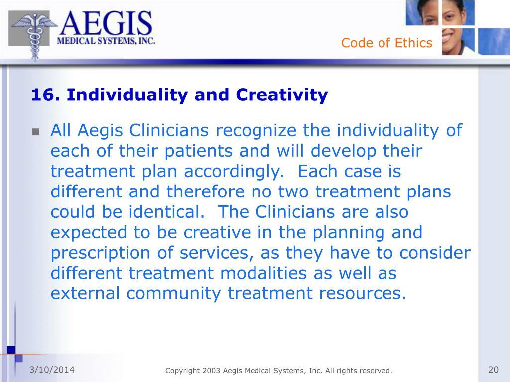16. Individuality and Creativity