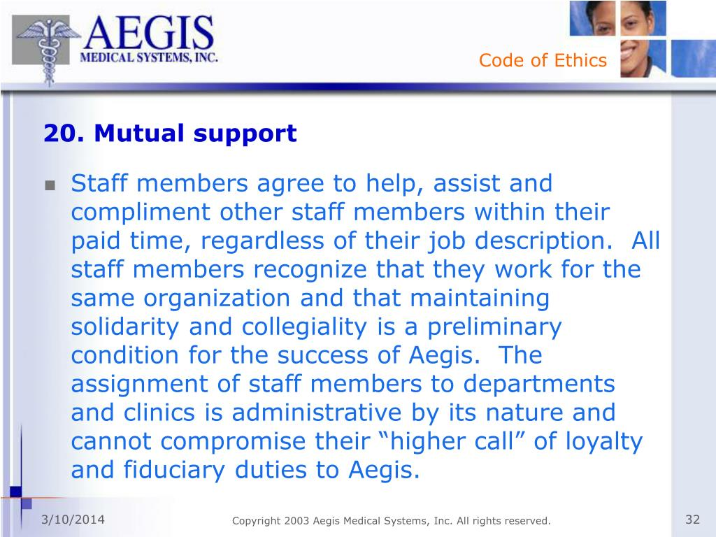 20. Mutual support