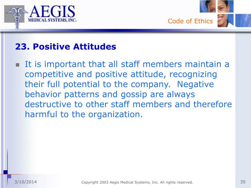 23. Positive Attitudes