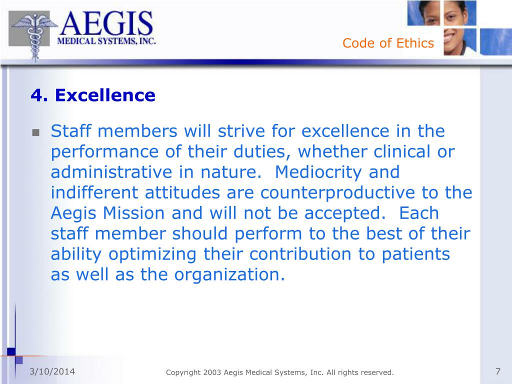 4. Excellence