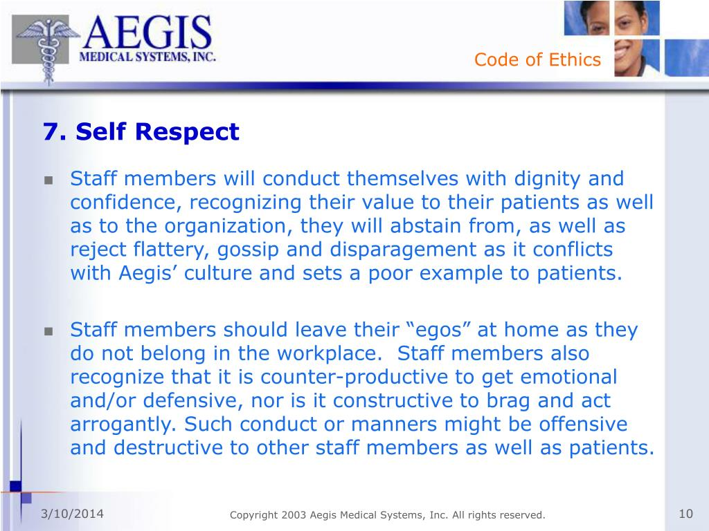 7. Self Respect