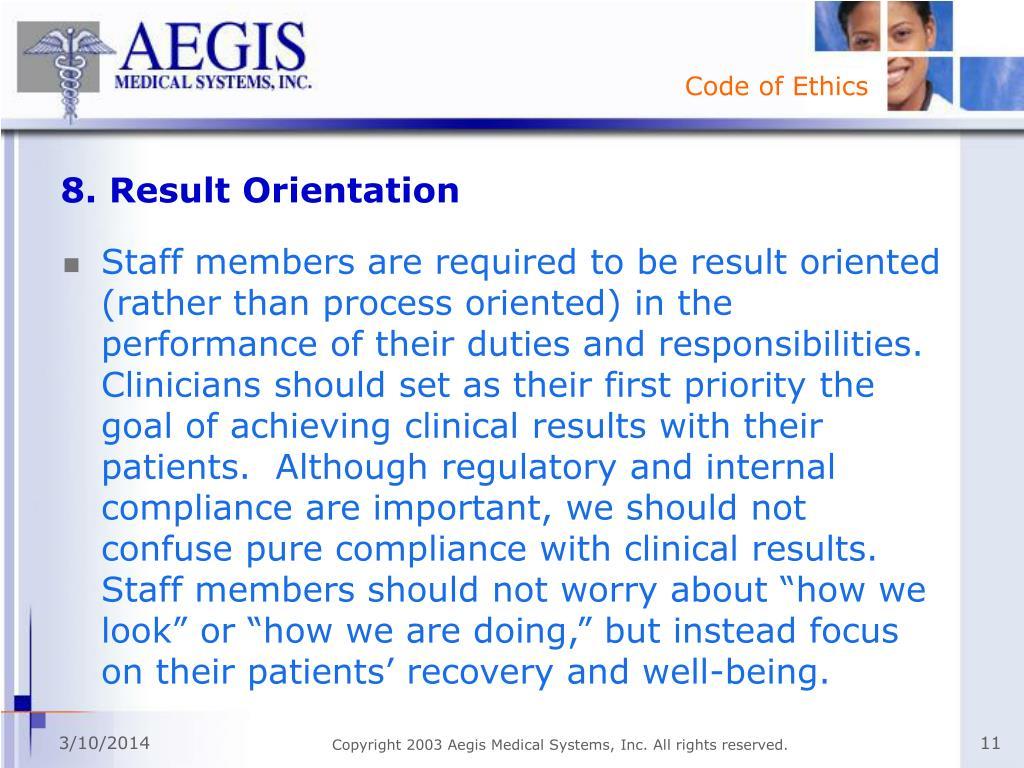 8. Result Orientation