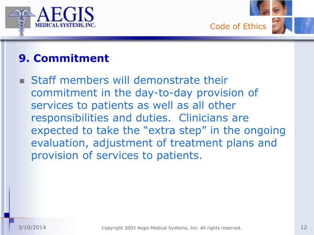 9. Commitment