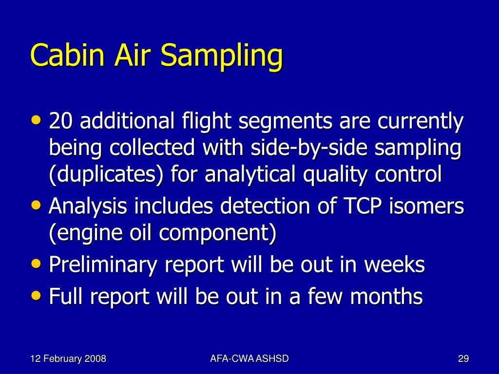 Cabin Air Sampling