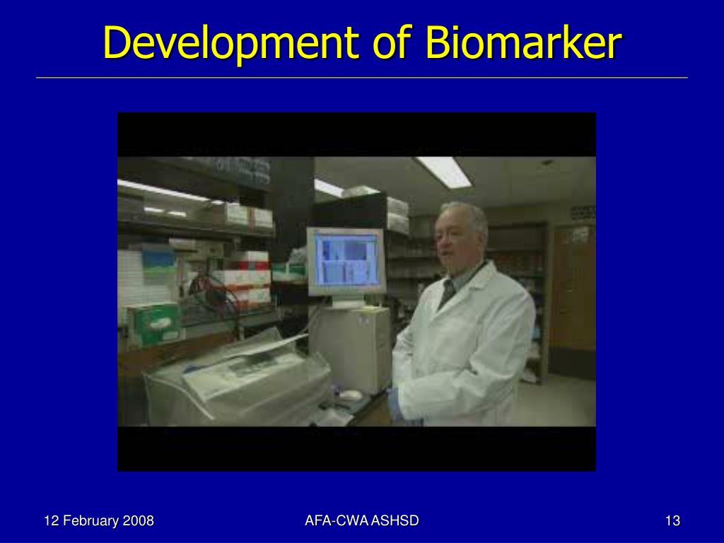 Development of Biomarker