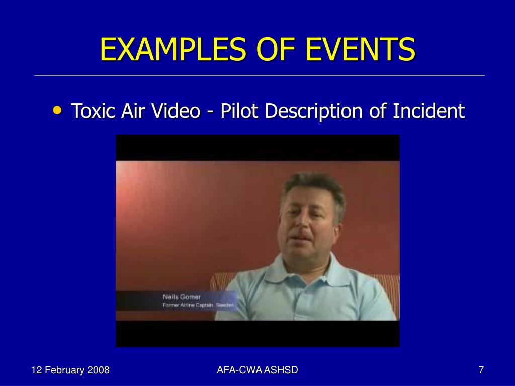 EXAMPLES OF EVENTS