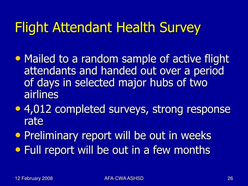 Flight Attendant Health Survey